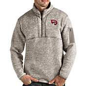 Antigua Men's Western Kentucky Hilltoppers Oatmeal Fortune Pullover Black Jacket