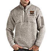Antigua Men's Western Michigan Broncos Oatmeal Fortune Pullover Black Jacket