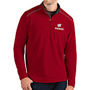 Antigua Men's Wisconsin Badgers Red Glacier Quarter-Zip Shirt