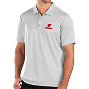 Antigua Men's Wisconsin Badgers Balance White Polo