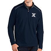 Antigua Men's Xavier Musketeers Blue Glacier Quarter-Zip Shirt