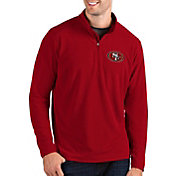 Antigua Men's San Francisco 49ers Glacier Red Quarter-Zip Pullover