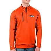 Antigua Men's Denver Broncos Orange Generation Half-Zip Pullover