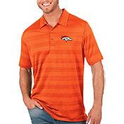 Antigua Men's Denver Broncos Orange Compass Polo
