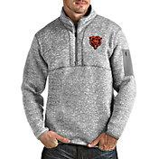 Antigua Men's Chicago Bears Grey Fortune Pullover Jacket