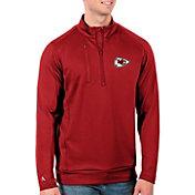 Antigua Men's Kansas City Chiefs Red Generation Half-Zip Pullover