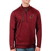 Antigua Men's Arizona Cardinals Red Generation Half-Zip Pullover