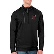 Antigua Men's Arizona Cardinals Black Generation Half-Zip Pullover