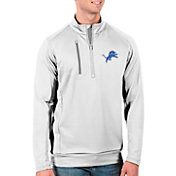 Antigua Men's Detroit Lions White Generation Half-Zip Pullover