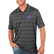 Antigua Men's Detroit Lions Grey Compass Polo
