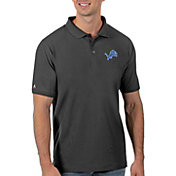Antigua Men's Detroit Lions Grey Legacy Pique Polo