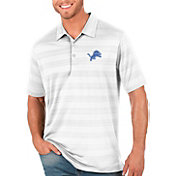 Antigua Men's Detroit Lions Compass White Polo