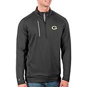 Antigua Men's Green Bay Packers Grey Generation Half-Zip Pullover