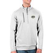 Antigua Men's Green Bay Packers White Generation Half-Zip Pullover