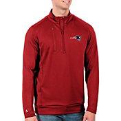 Antigua Men's New England Patriots Red Generation Half-Zip Pullover