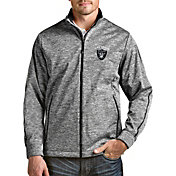 Antigua Men's Las Vegas Raiders Heather Black Full-Zip Golf Jacket