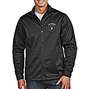 Antigua Men's Las Vegas Raiders Black Full-Zip Golf Jacket