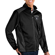 Antigua Men's Las Vegas Raiders Revolve Black Full-Zip Jacket