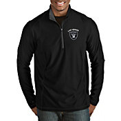 Antigua Men's Las Vegas Raiders Tempo Black Quarter-Zip Pullover