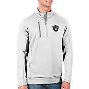 Antigua Men's Las Vegas Raiders White Generation Half-Zip Pullover