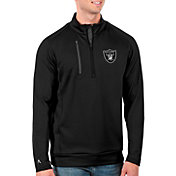 Antigua Men's Las Vegas Raiders Black Generation Half-Zip Pullover