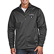 Antigua Men's Las Vegas Raiders Grey Full-Zip Golf Jacket
