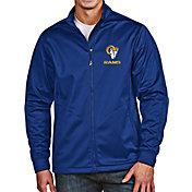 Antigua Men's Los Angeles Rams Royal Full-Zip Golf Jacket