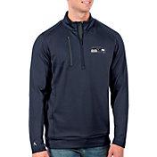 Antigua Men's Seattle Seahawks Navy Generation Half-Zip Pullover
