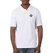 Antigua Men's New Orleans Saints Legacy Pique White Polo