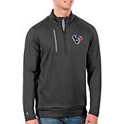 Antigua Men's Houston Texans Grey Generation Half-Zip Pullover