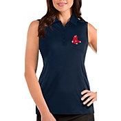 Antigua Women's Boston Red Sox Navy Tribute Sleeveless Polo