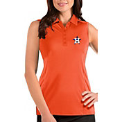 Antigua Women's Houston Astros Orange Tribute Sleeveless Polo