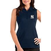 Antigua Women's New York Yankees Navy Tribute Sleeveless Polo
