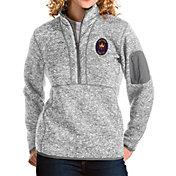 Antigua Women's Chicago Fire Grey Fortune Quarter-Zip Pullover