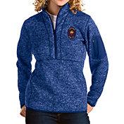 Antigua Women's Chicago Fire Navy Fortune Quarter-Zip Pullover