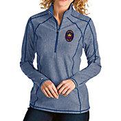 Antigua Women's Chicago Fire Navy Tempo Quarter-Zip Pullover