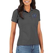 Antigua Women's New York City FC Grey Legacy Pique Polo