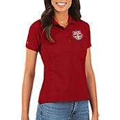 Antigua Women's New York Red Bulls Red Legacy Pique Polo