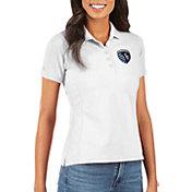 Antigua Women's Sporting Kansas City Legacy Pique White Polo