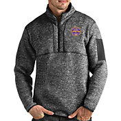 Antigua Men's 2019 National Champions LSU Tigers Grey Fortune Pullover Jacket