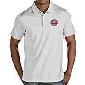 Antigua Men's 2019 National Champions LSU Tigers Quest Performance White Polo