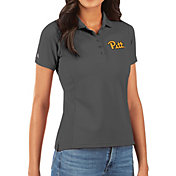 Antigua Women's Pitt Panthers Grey Legacy Pique Polo