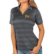 Antigua Women's Pitt Panthers Grey Compass Polo