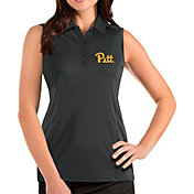 Antigua Women's Pitt Panthers Grey Tribute Sleeveless Tank Top