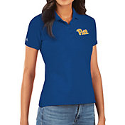Antigua Women's Pitt Panthers Blue Legacy Pique Polo