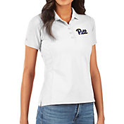 Antigua Women's Pitt Panthers Legacy Pique White Polo
