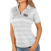 Antigua Women's Pitt Panthers White Compass Polo