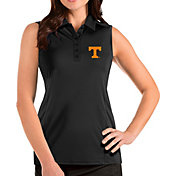Antigua Women's Tennessee Volunteers Tribute Sleeveless Tank Black Top