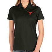 Antigua Women's Texas Longhorns Balance Black Polo
