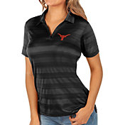 Antigua Women's Texas Longhorns Black Compass Polo
